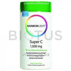 Витамин С, Super C, Rainbow Light, 1000 мг, 60 таблеток