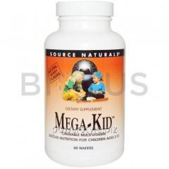 Витамины и минералы для детей, Mega-Kid, Source