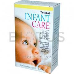 Витамины для детей (Multi Vitamin Drops), Twinlab, DHA, 50 мл