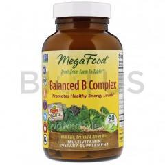 Витамин В (комплекс), Balanced B Complex, MegaFood, сбалансированный, 90 таблеток