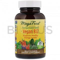 Витамин В12, Vegan B12, MegaFood, 30 таблеток