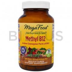 Витамин В12, Methyl B12, MegaFood, 90 таблеток