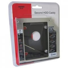 """Адаптер карман оптибей Second для подключения 2.5"""" HDD SSD CD DVD Caddy Optibay 12.7mm"""