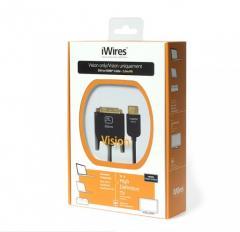Кабель TechLink iWires DVI Plug - HDMI Plug...