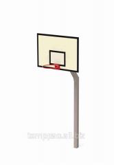 Щит баскетбольный с опорой ОП-56ВВ антивандальная сетка