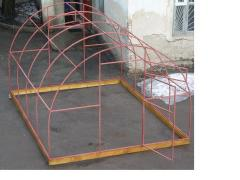 The greenhouse arch of the steel profile pipe