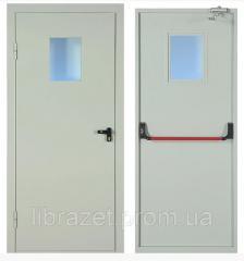 Дверь противопожарная однопольная ЕI-60 с системой