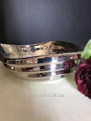 Конфетница ваза серебряная Лодочка на волнах