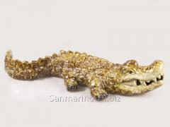 Статуэтка керамическая Крокодил коричневый