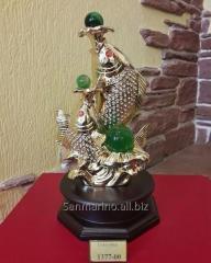 Статуэтка Рыбки золотые камни по технологии