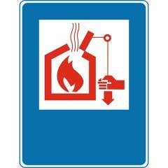 Знак Органы управления систем дымо- теплоудаления