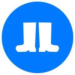 Знак Работать в защитной обуви! d-150 с-к пленка