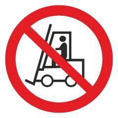 Знак Запрещается движение средств напольного