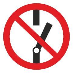 Знак Не включать! d-150 мм с-к пленка