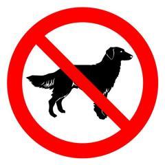 Знак Запрещается вход (проход) с животными d-150