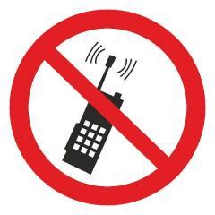 Знак Запрещается пользоватся мобильным телефоном