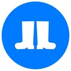 Знак Работать в защитной обуви! d-250 пластик ПВХ