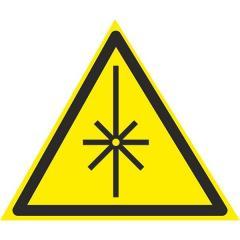 Знак Осторожно ! Излучение лазера 150мм...