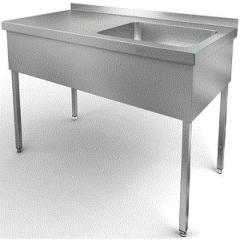Стол производственный со встроенной моечной ванной