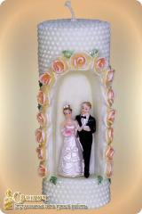 """Candle wedding """"Arch pearl"""