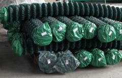 Сетка рабица  оцинкованная пластифицированная поливинилхлоридом  h 2001 - 4000 мм ЭЛИТ   Ø 1,65/2,5, 40 мм