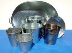 Basin is galvanized round