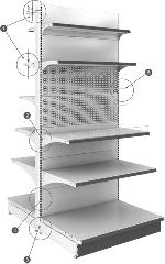 Стеллажи универсальные КОЛУМБ Высота стеллажа 1930