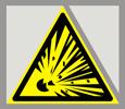 Предупреждающий знак «Взрывоопасно».