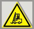 Предупреждающий знак «Внимание! Автопогрузчик».