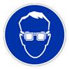 Предписывающий знак «Работать в защитных очках»