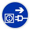 Предписывающий знак безопасности «Отключить