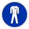 """Предписывающий знак """"Работать в защитной одежде""""."""