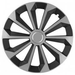 Колпаки на колеса R15 черные + серебро + хром по