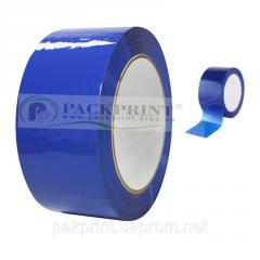 Клейкая лента (скотч) упаковочная, синяя 48мм х 66