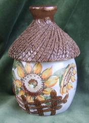 Сахарница Плетень, керамические изделия, сувениры