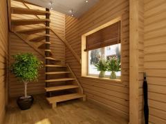 Лестницы деревянные, лестницы из дерева