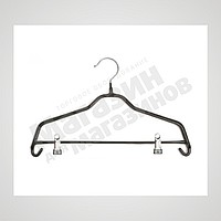Плечики для одежды металлические черные. L-40cm