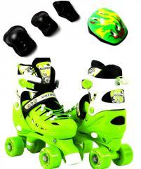 Ролики-квады+защита+шлем Scale Sport. Green.