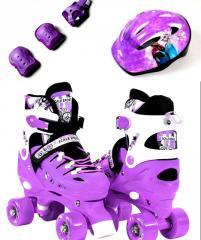 Ролики-квады+защита+шлем Scale Sport. Violet
