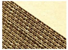 Гофрокартон трехслойный Т22,  профилей С и В