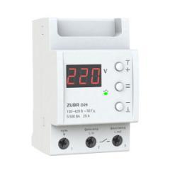 Реле контроля напряжения 1-ф,  25 А,  ZUBR...