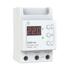 Реле напряжения 1-ф, 25 А, с термозащитой ZUBR