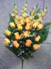 Искусственные цветы, букет роз