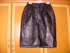 Кожаные юбки женские