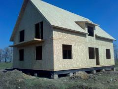 Canadian house. Construction and design