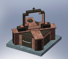 Ritual products from granite: monuments, arches,
