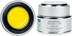 Color gel yellow opaque CND Brisa Yellow Opaque
