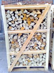 Дрова колотые сухие твердих пород на экспорт дрова