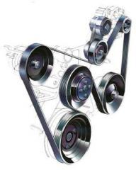 Навесные детали двигателя: ролики, ремни, цепи