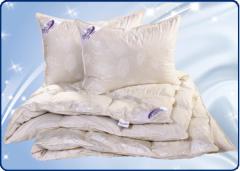 Одеяло и подушка пух-перо. Коллекция Нежность